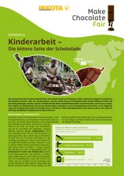 factsheet, child labour, chocolate, cocoa, Infoblatt Kinderarbeit, Schokolade, Kakao